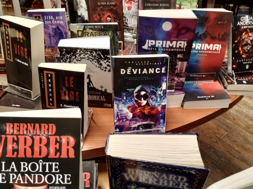 Roman Déviance à la librairie Raffin Place-Versaille