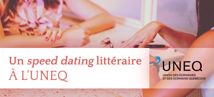 Speed dating littéraire à l'UNEQ