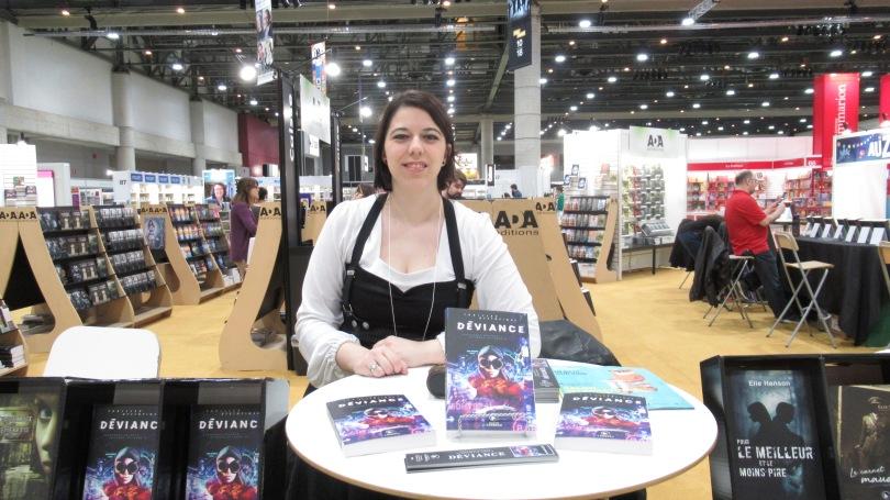 Stéphanie Sylvain, auteure au salon du livre de québec