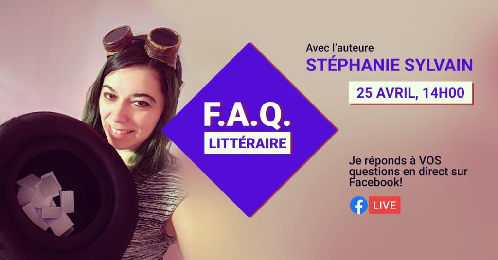 FAQ littéraire avec Stéphanie Sylvain